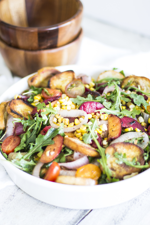 Grilled Stone Fruit Panzanella Salad