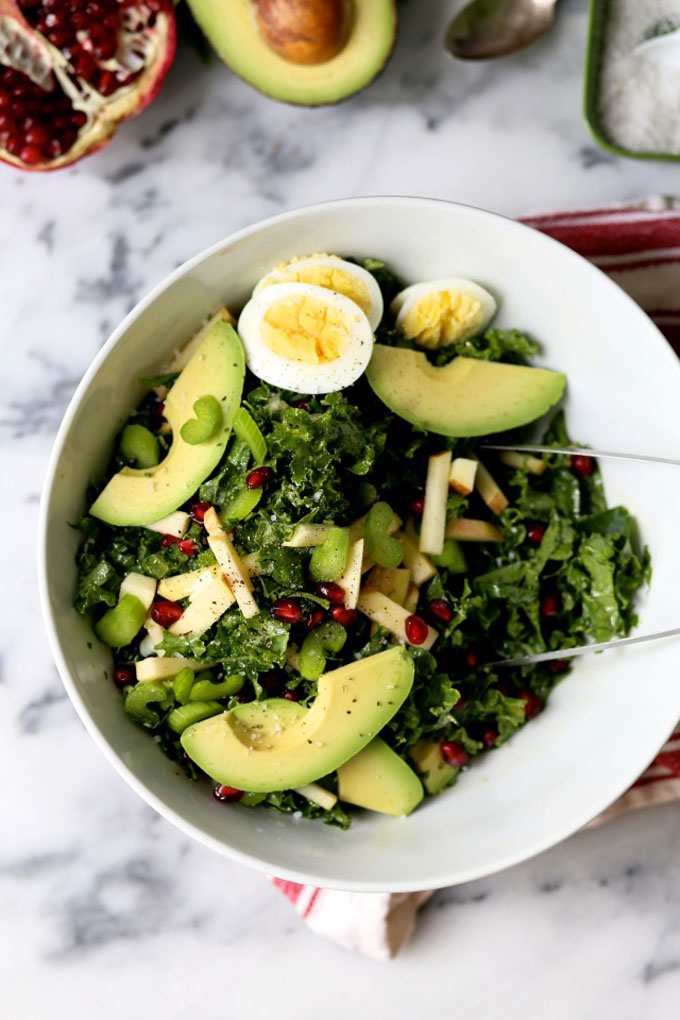 Kale Pomegranate Crunch Salad