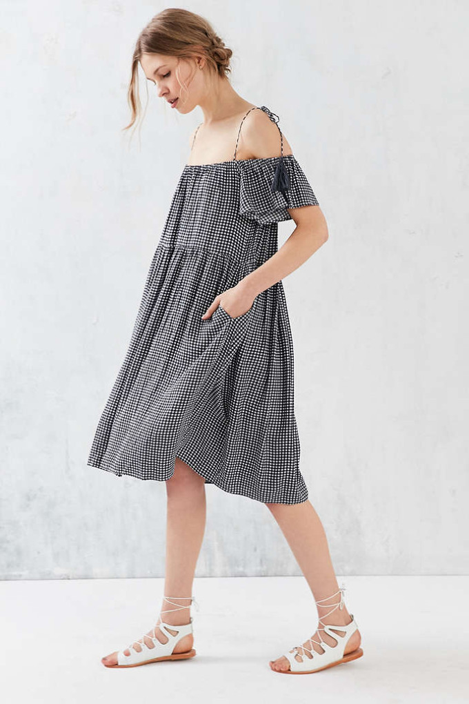 8 Unique Off-the-Shoulder Dresses, including this Little White Lies Francoise Midi Off-The-Shoulder Dress