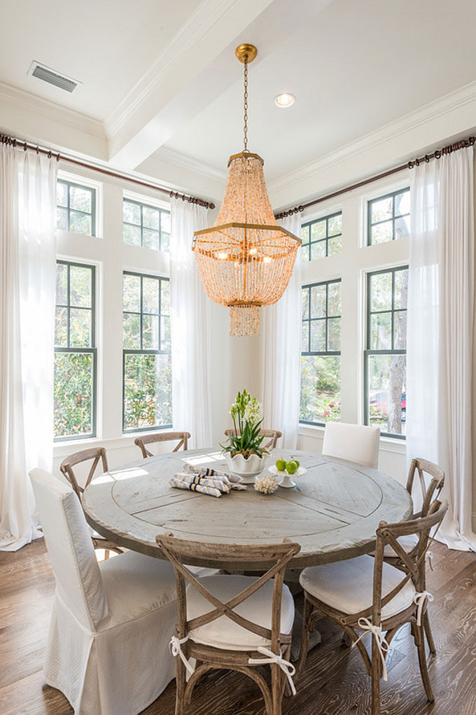 The Dreamiest Coastal Home in Seagrove Beach - Kitchen Breakfast Table