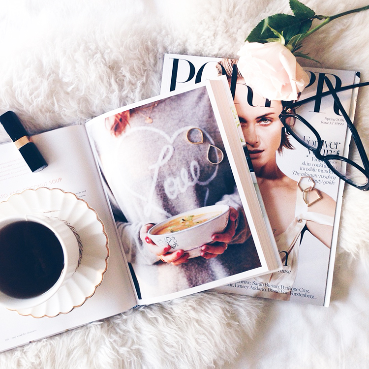 Little Love Notes and pretty things: magazines, coffee, makeup, and a rose