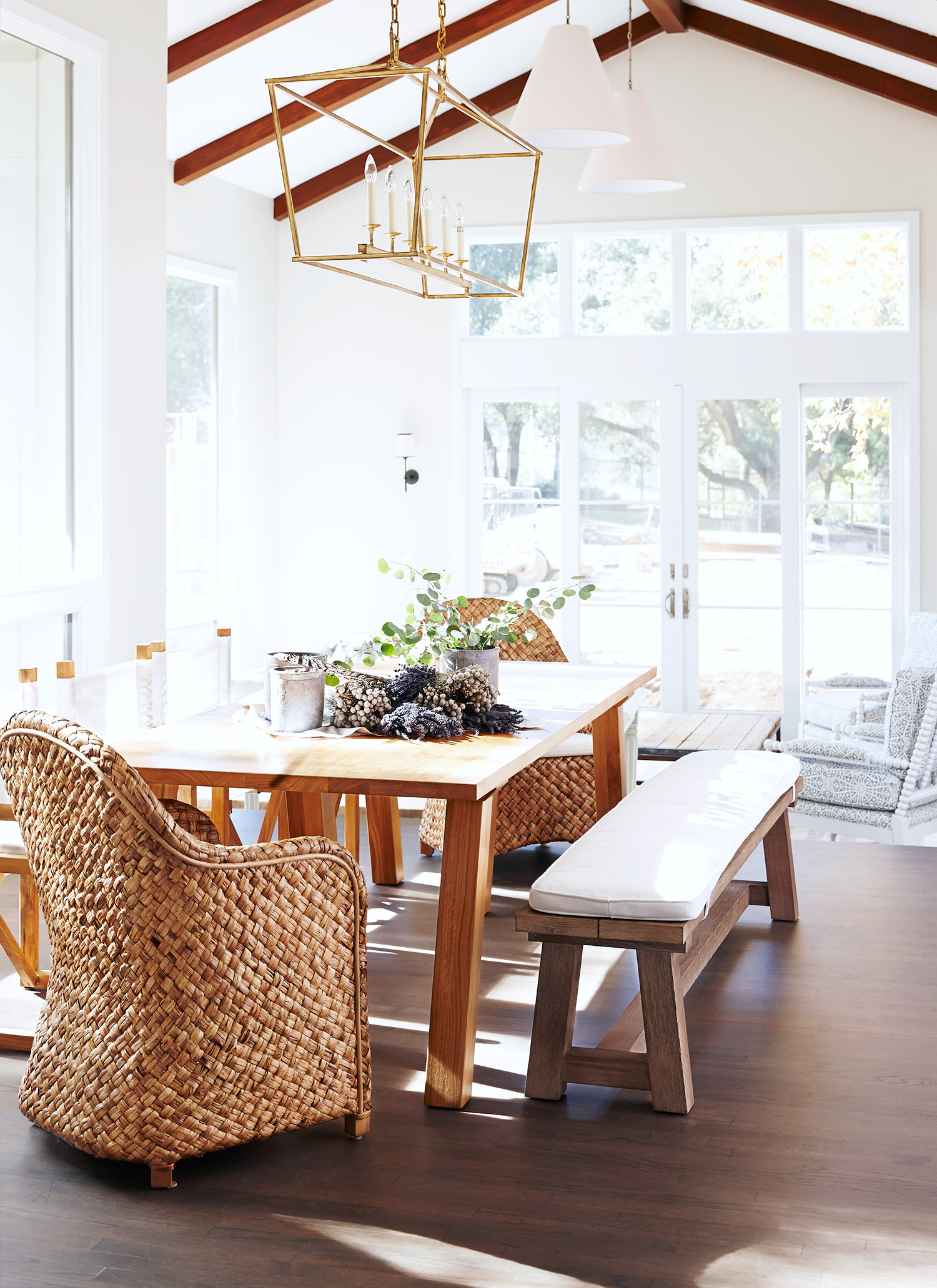 A Renovated Family Farmhouse in Woodside - Dining Room