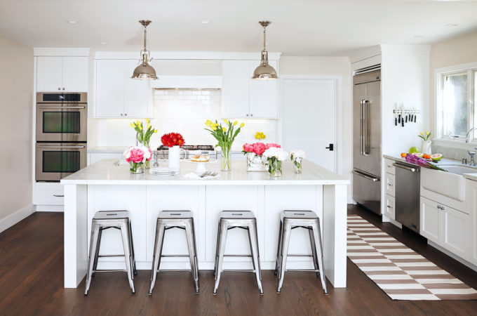 A Renovated Family Farmhouse in Woodside - White Kitchen