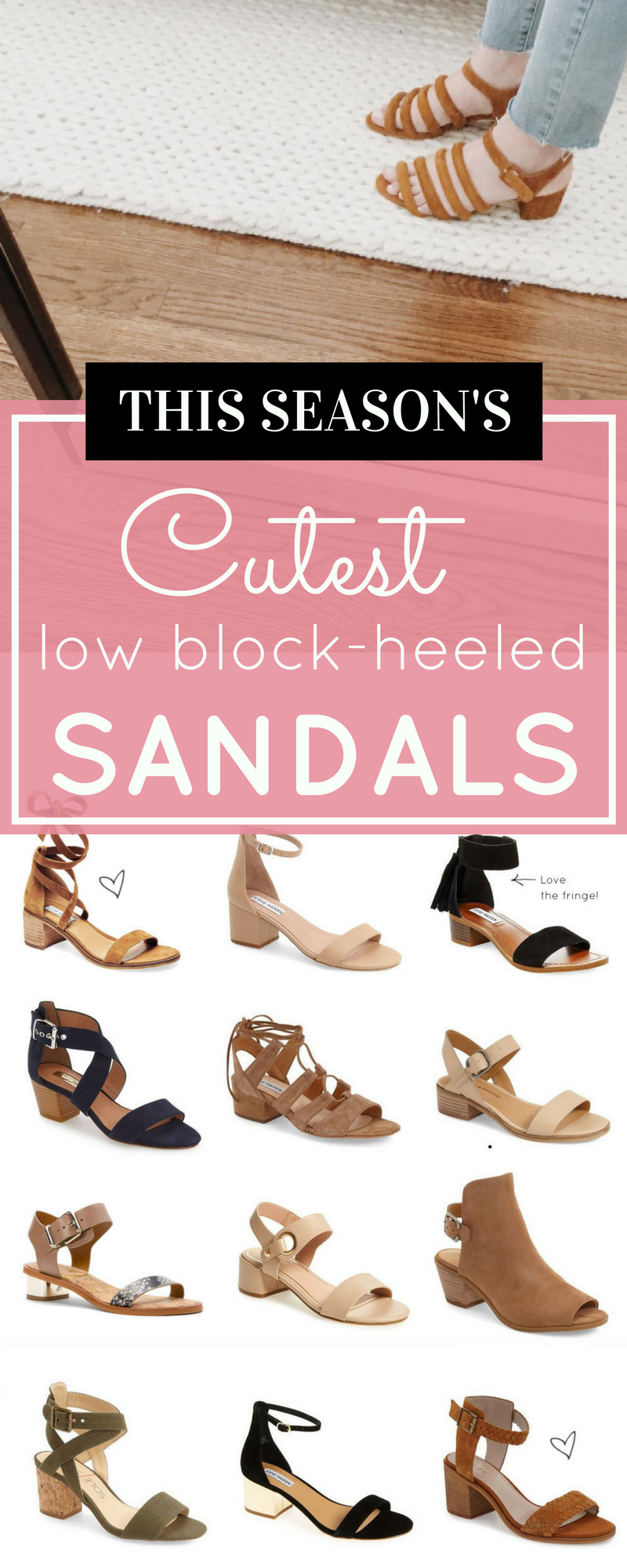 5a2dcd3d9e0f0 Say hello to the season s cutest low block-heeled sandals. These retro  sandals go