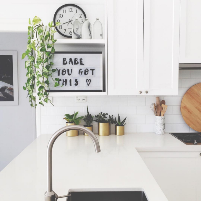 The Coolest Customizable Art: Felt Letter Boards and Black Light Boxes, plus where to buy them. (Babe You Got This Black Light Box in the Kitchen)