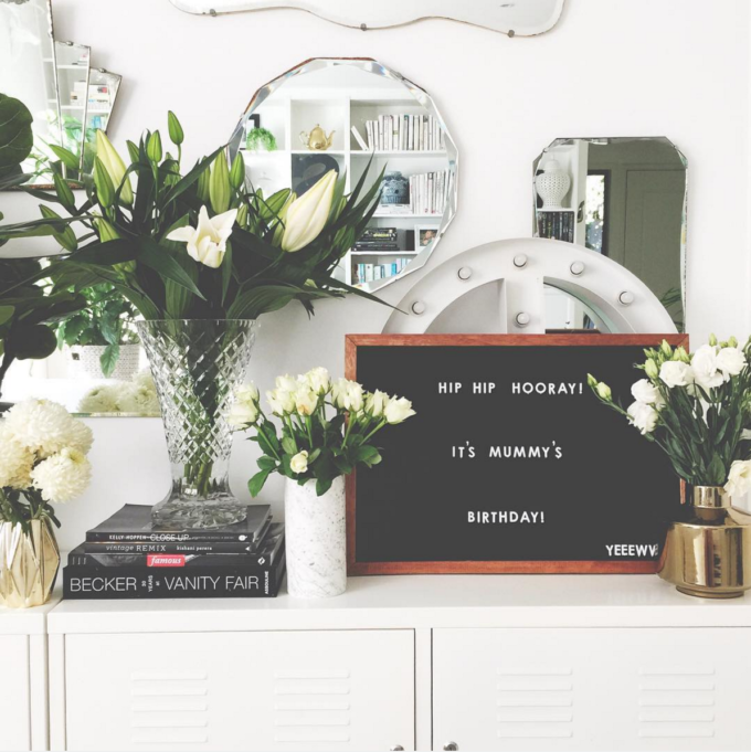 The Coolest Customizable Art: Felt Letter Boards and Black Light Boxes, plus where to buy them. (Birthday Felt Letterboard Sign)