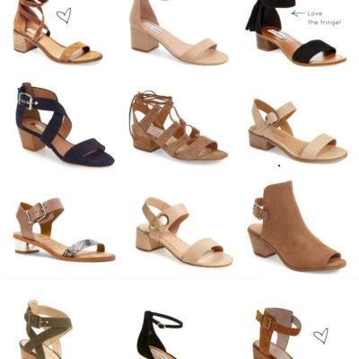 The Season's Cutest Low Block-Heeled Sandals