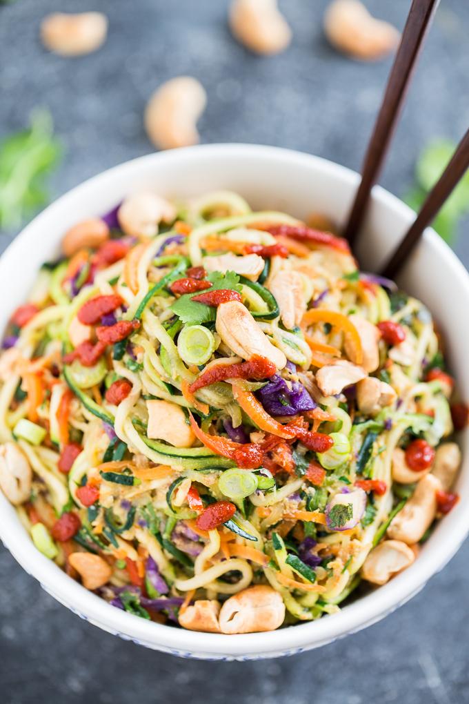 Rainbow Veggie Dragon Noodles (Yum!)