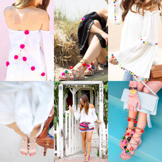 Shop the Trend: Colorful Pom Poms by NC blogger Glitter, Inc.