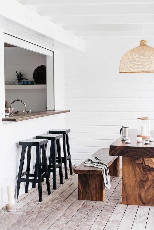 Villa Palmier Beach House in St. Barts - White Kitchen with Gold Accents