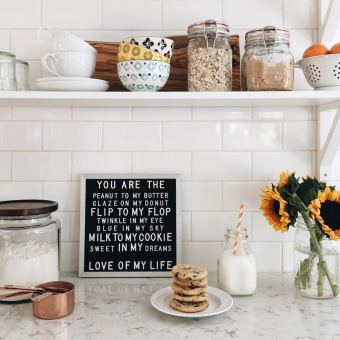 The Coolest Customizable Art: Felt Letter Boards and Black Light Boxes, plus where to buy them. (You are the Peanut to my Butter Kitchen Sign)