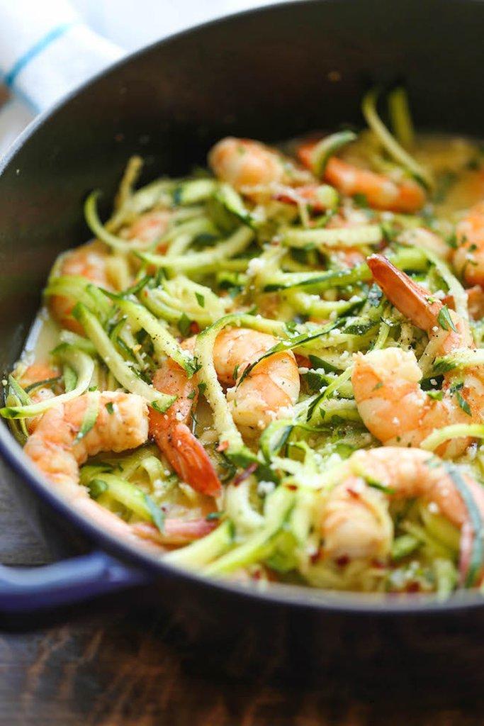 Zucchini Noodle Shrimp Scampi (Yum!)
