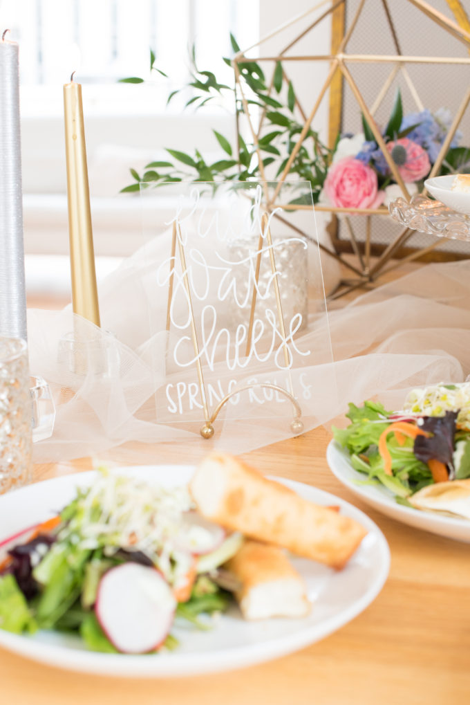 Behind-the-Scenes of a DIY Paper-Crafted Styled Wedding Shoot in The Year's Pantone Colors, Serenity and Rose Quartz, at the Glassbox in Downtown Raleigh North Carolina