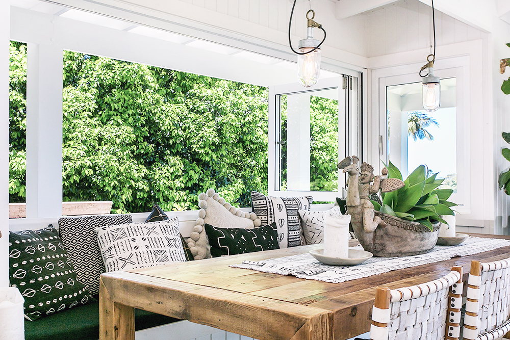 Step inside one very cool bohemian beach home in Australia. (That also happens to be a rental and an event venue!) - Boho Dining Room