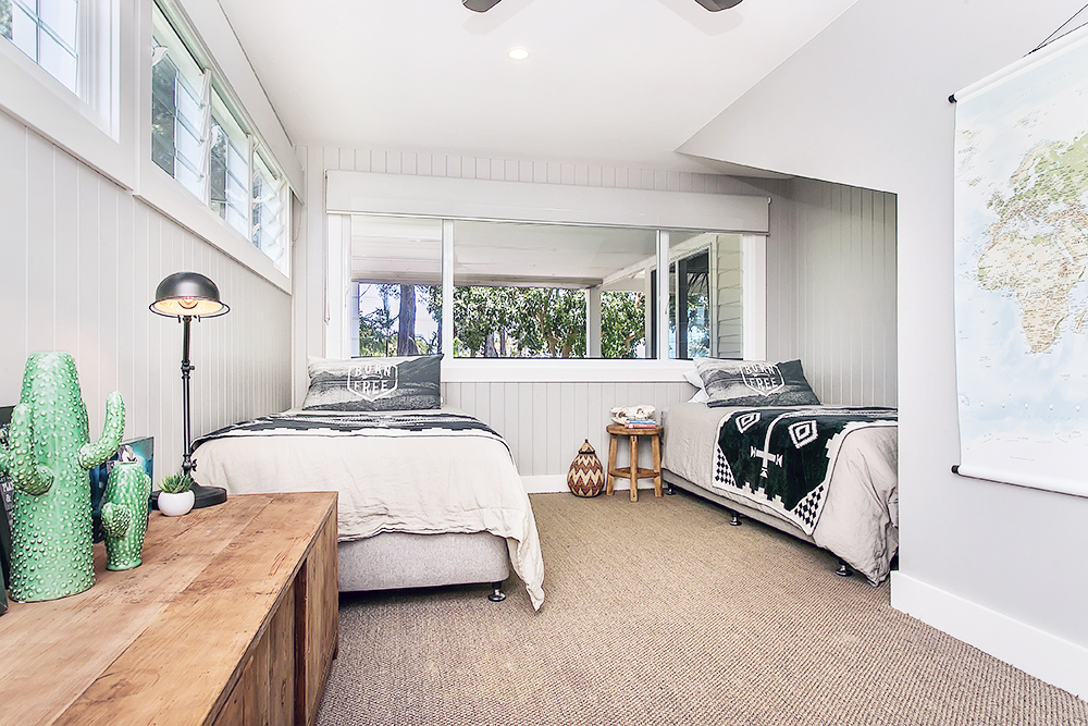 Step inside one very cool bohemian beach home in Australia. (That also happens to be a rental and an event venue!) - Born Free Kids Bedroom