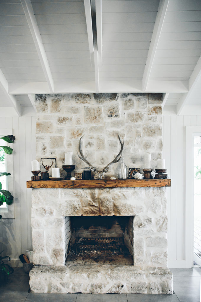 Step inside one very cool bohemian beach home in Australia. (That also happens to be a rental and an event venue!) - Fireplace