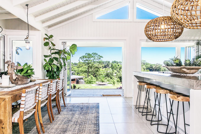 Step inside one very cool bohemian beach home in Australia. (That also happens to be a rental and an event venue!) - Kitchen and Dining Room