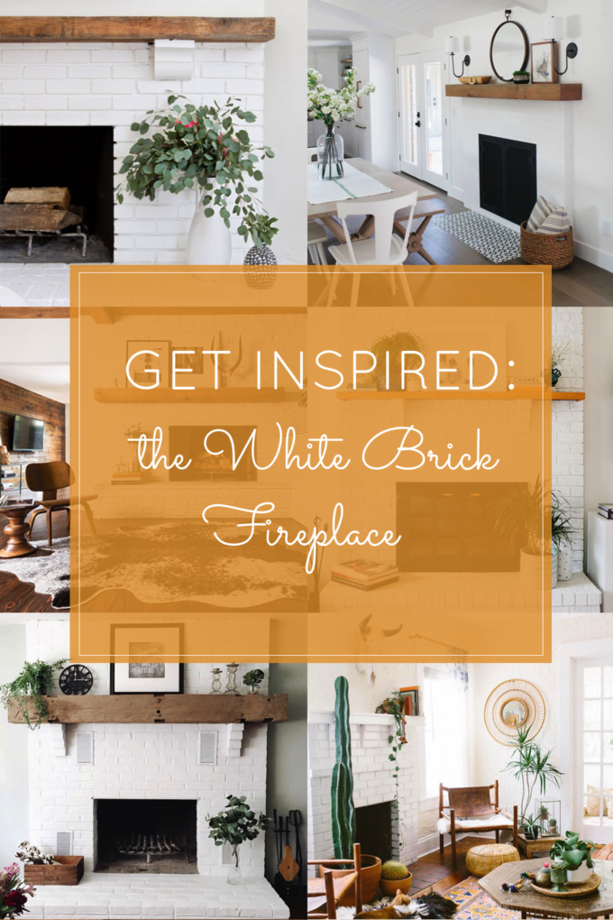 Get Inspired: The DIY White Brick Fireplace