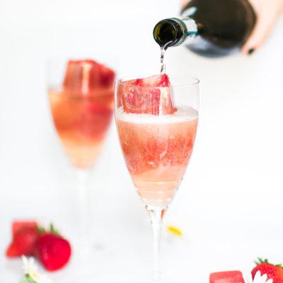 Strawberry Watermelon Prosecco Spritzers