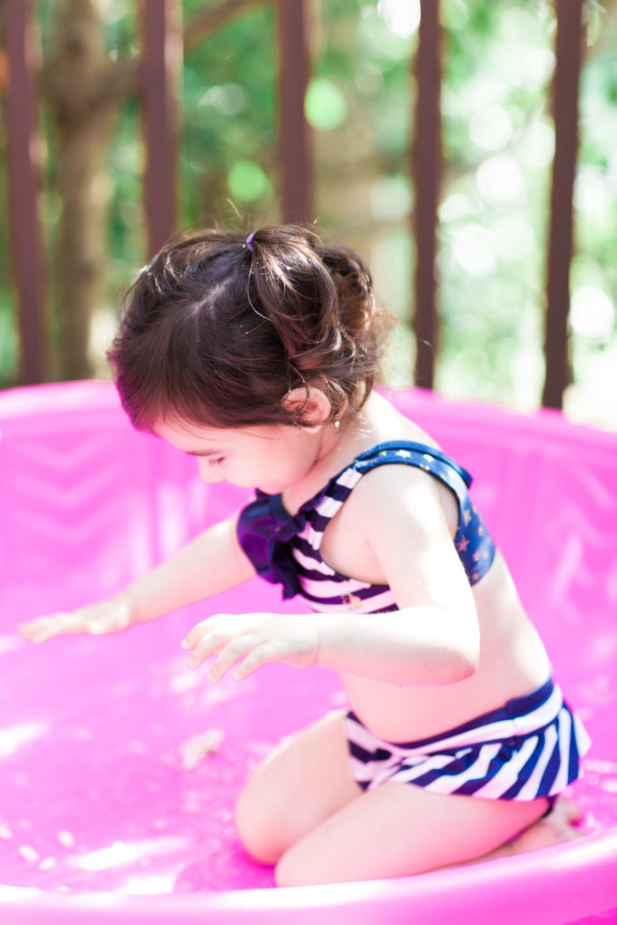 Toddler Playing in Summer Time (Plus thoughts on mom guilt and how to deal when you feel a little like a failure.)