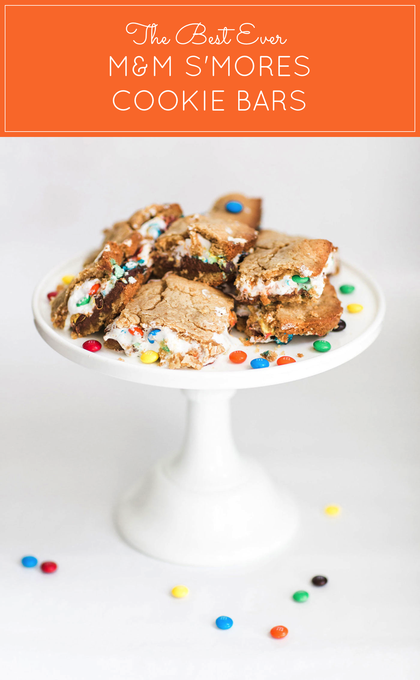 How to Make The Best Ever M&M S'Mores Cookie Bars (These s'mores bars are moist, perfectly sweet, and taste like your favorite campfire treat!)