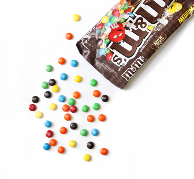 Medium Bag of Milk Chocolate M&Ms - glitterinc.com