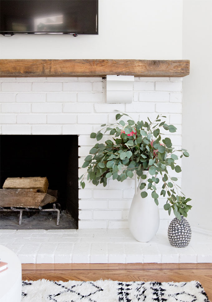 Get Inspired The DIY White Brick Fireplace Love This Rustic Modern Version