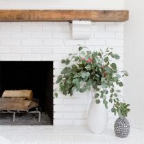Rustic Modern White Fireplace