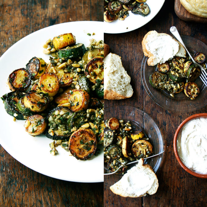 15 Amazing Zucchini Recipes You Haven't Tried Before, like this Sautéed Zucchini with Mint, Basil & Pine Nuts