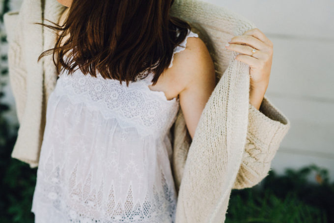 Wearing Summer Layers (Lace top and Oversized Cardigan), plus a few little love notes to the things I loved most this week.