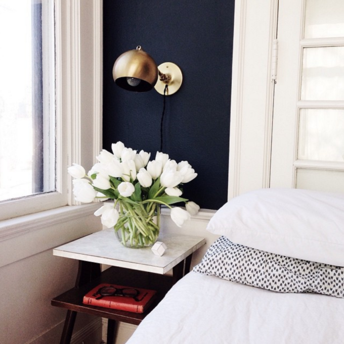 A Simple Way to Brighten Your Bedroom for Summer (Tulips by the Bed)