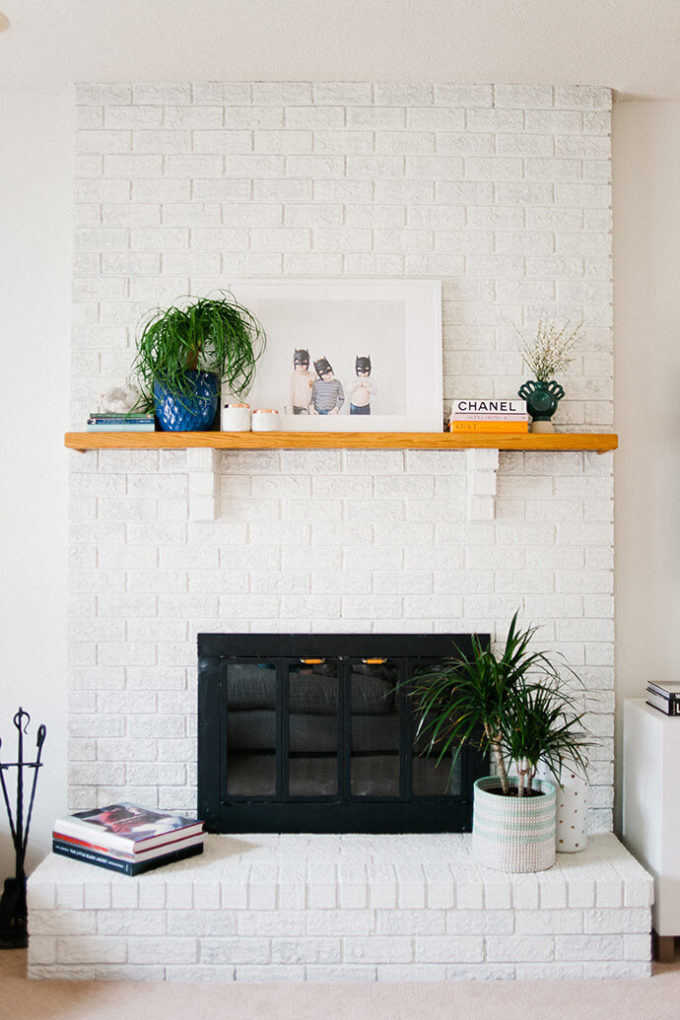 Get Inspired: The DIY White Brick Fireplace (Love this one in a Family Home!)