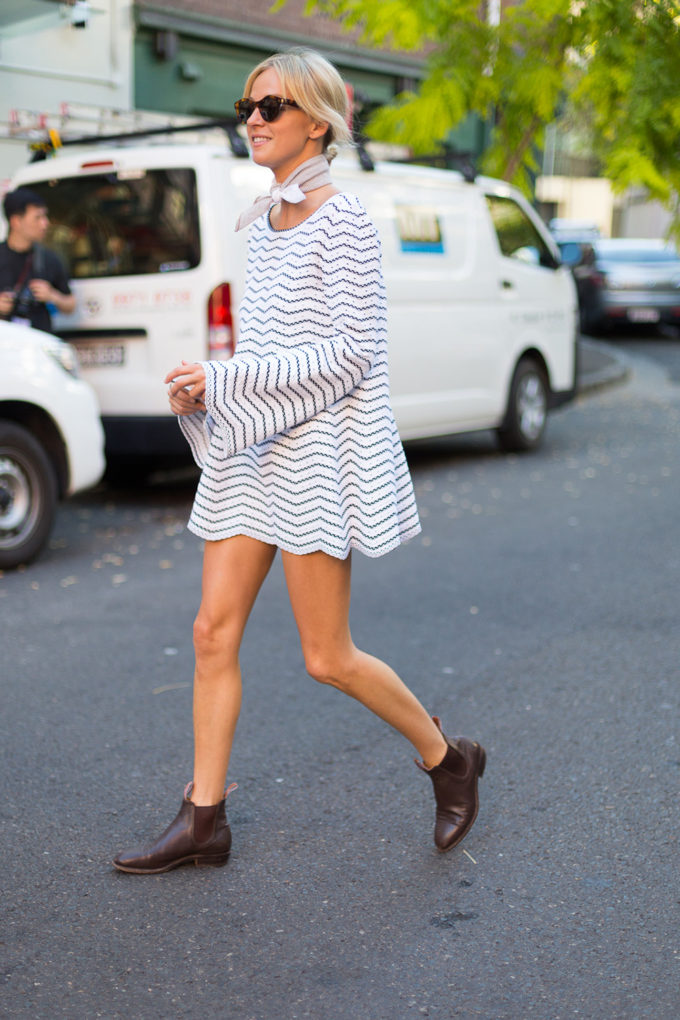 The Best Ways to Wear Boots Before It Gets Chilly (Sleeved Dress and Booties)