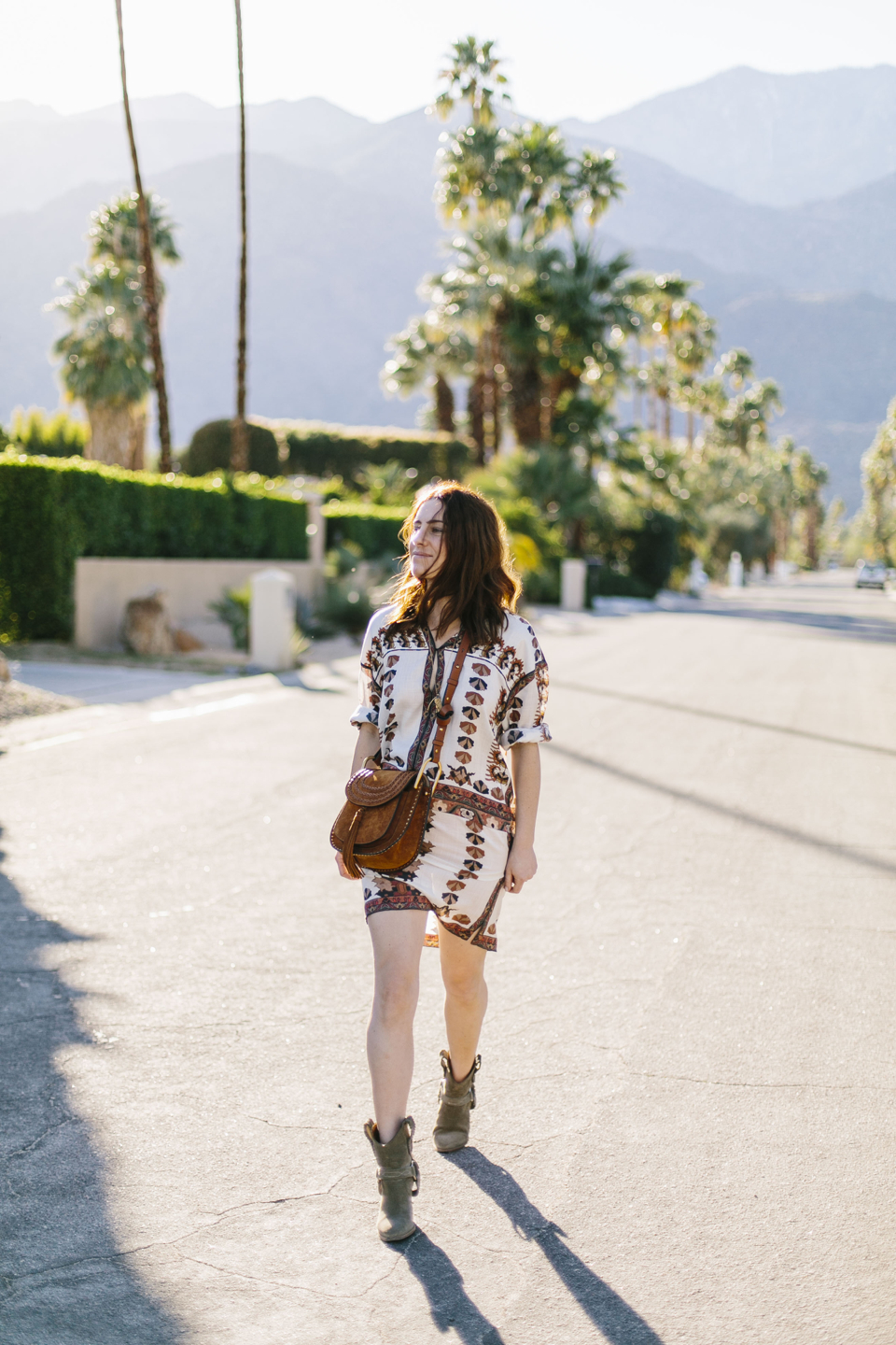 The Best Ways to Wear Boots Before It Gets Chilly (Isabel Marant Flowy Tunic Shirtdress and Booties)