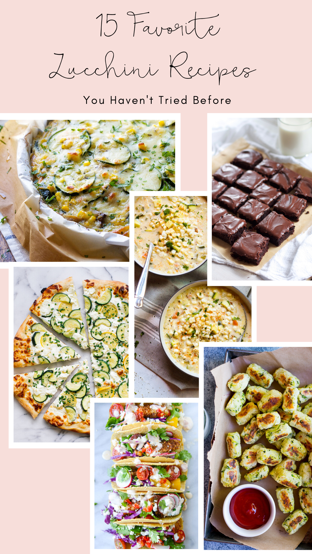 Try a new recipe with the freshest zucchini of the season! These 15 favorite zucchini recipes are flavorful, unique, and odds are, you haven't tried before! | glitterinc.com | @glitterinc