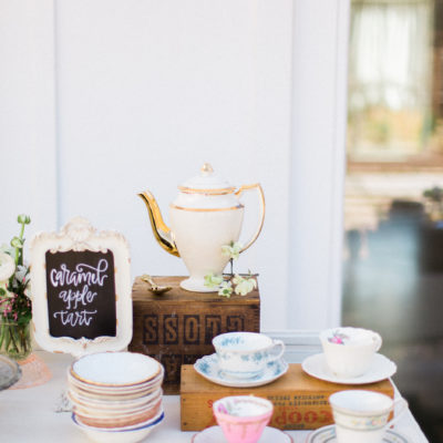 Outdoor Styled Southern Dinner Party - Behind-the-Scenes of a Styled Shoot (Tea and Dessert Station)
