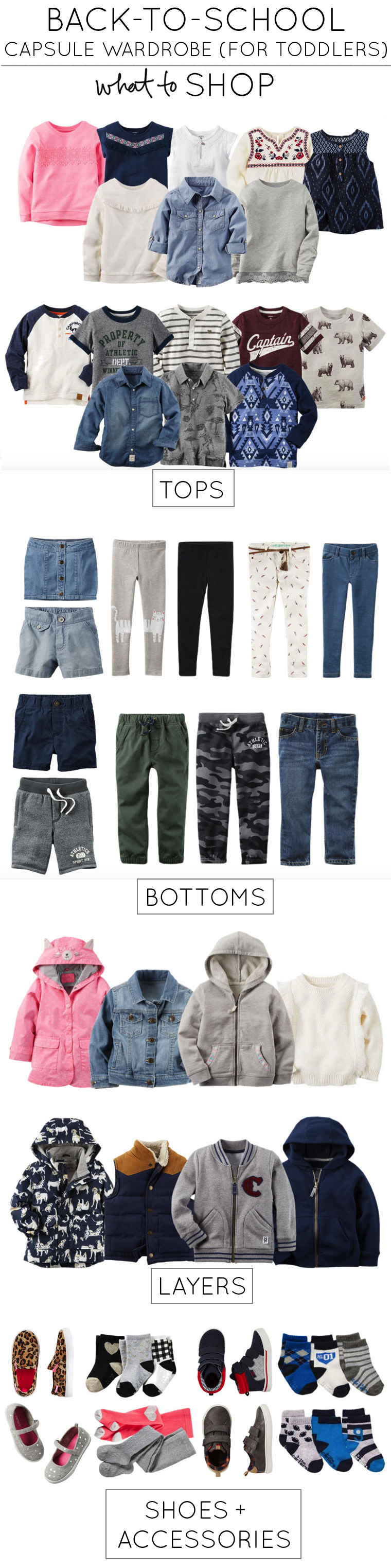 How to Create a Back-to-School Capsule Wardrobe Collection for Toddlers (a.k.a., how to get the most bang for your buck when shopping for your kids this season!)