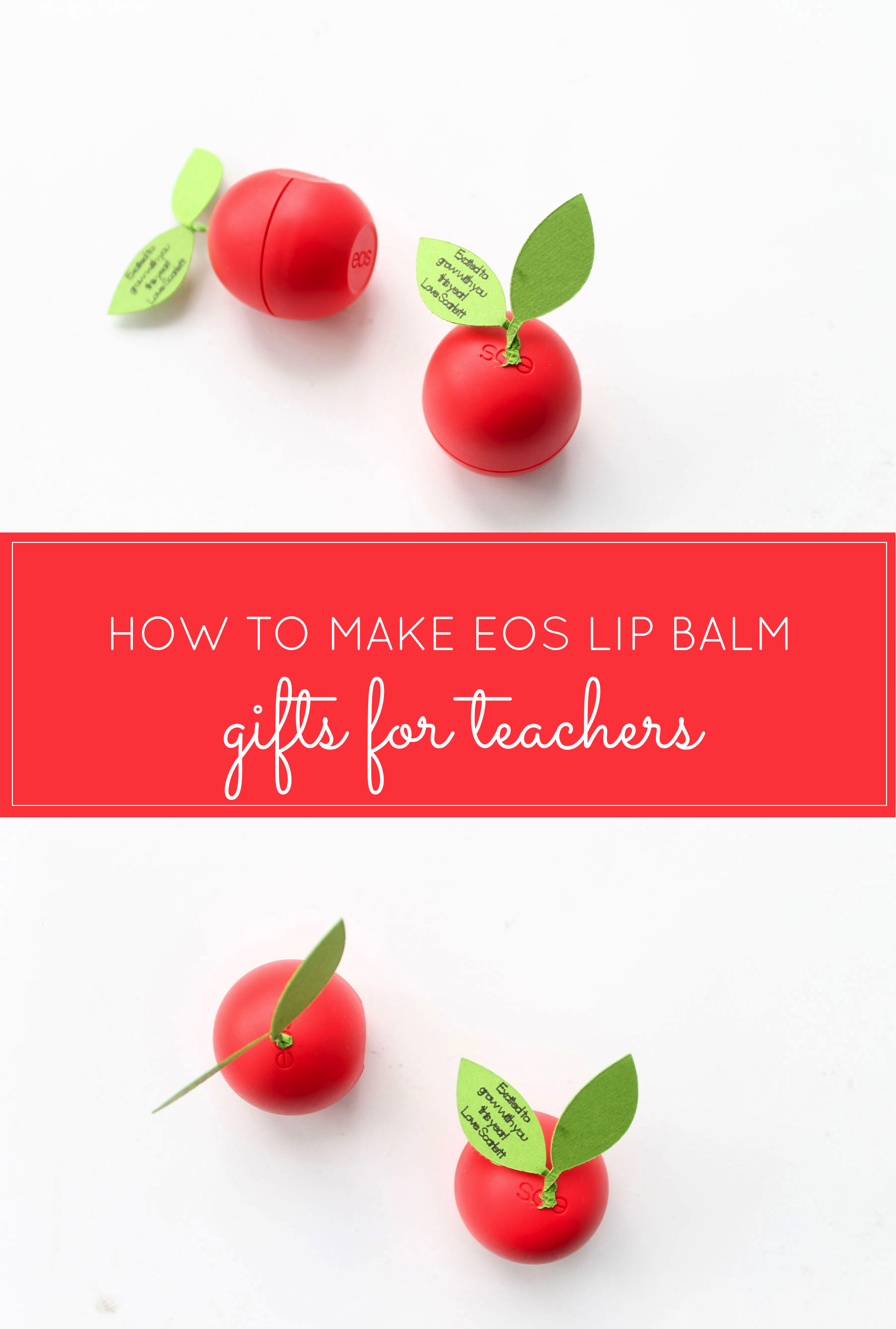 How to Make the Cutest DIY Teacher Appreciation Gift Using an EOS Lip Balm (Perfect for Back-to-School + Teacher Appreciation Day!)