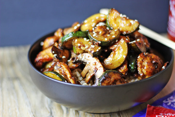 15 Amazing Zucchini Recipes You Haven't Tried Before, like this yummy Mushroom Chicken (with Zucchini) that's perfect for an easy dinner.