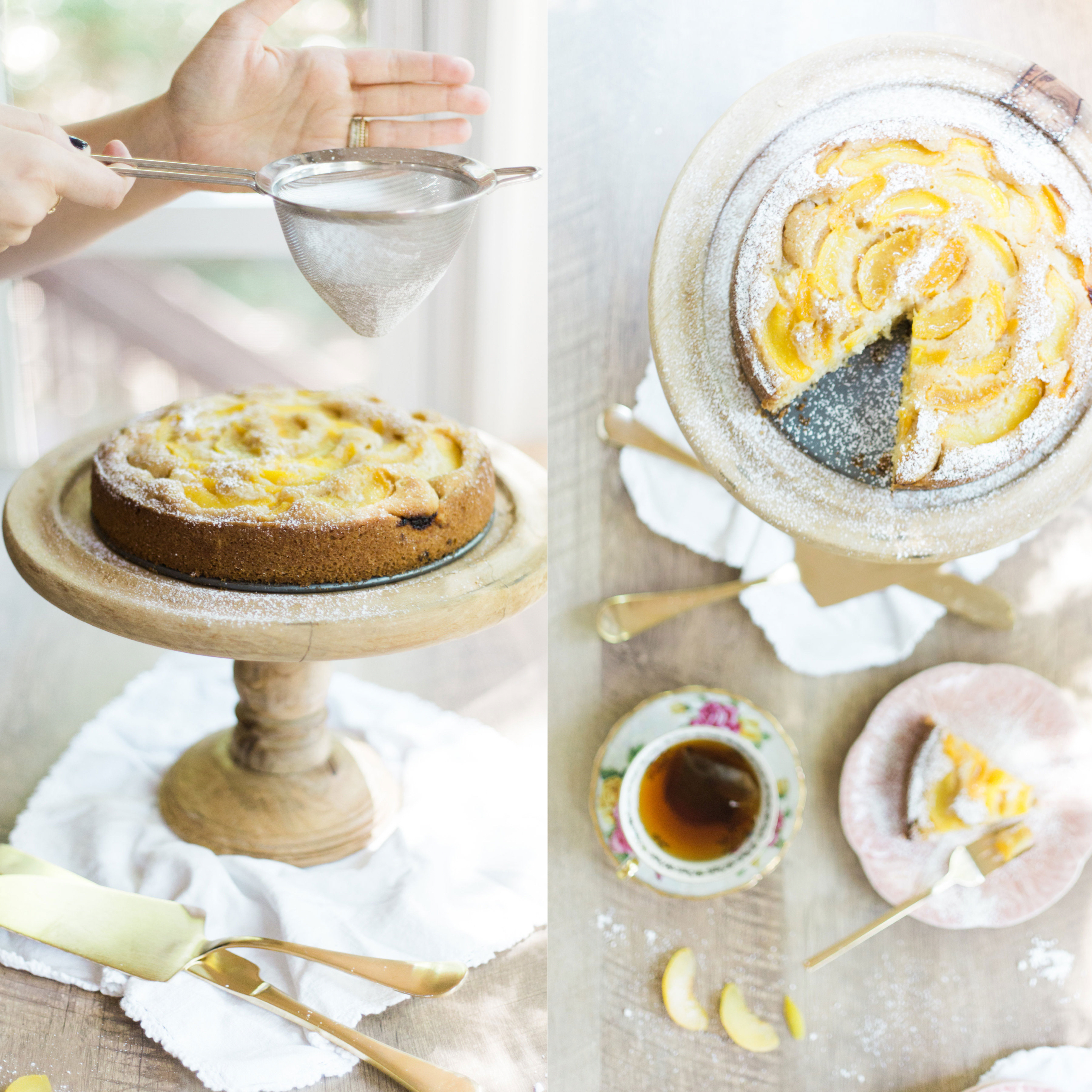 How to Make The Perfect Peach Cake (Seriously, I can't stop making this blissfuly subtle cake.)