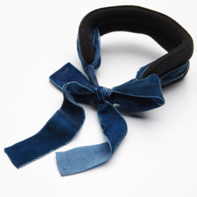 Messy Bun Upgrade: Put a Velvet Chignon Bow On It