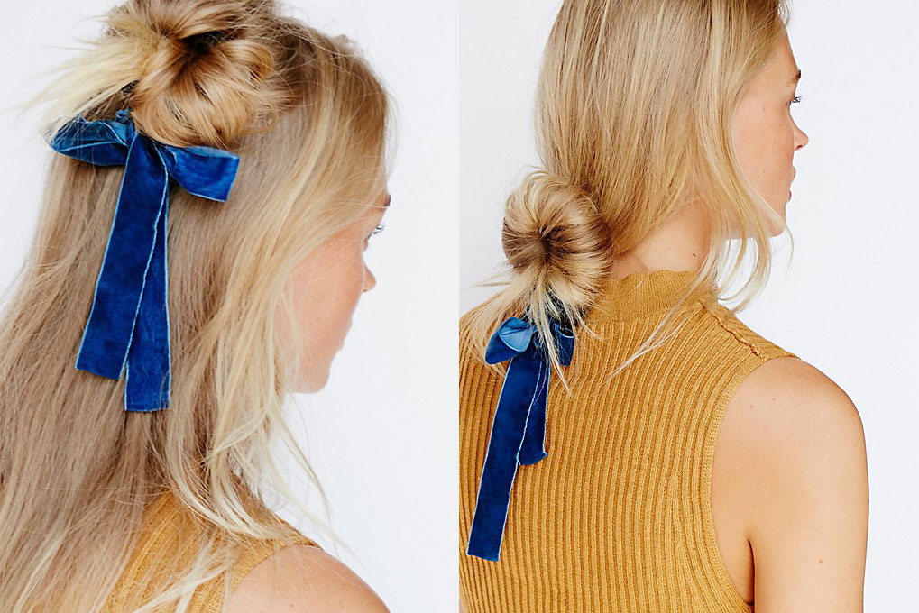 Messy Bun Upgrade: Put a Velvet Chignon Bow On It (This nifty 90s-inspired hair tool will be your new best friend!)