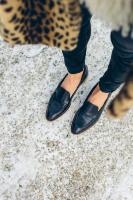 Loafers and a Leopard Coat