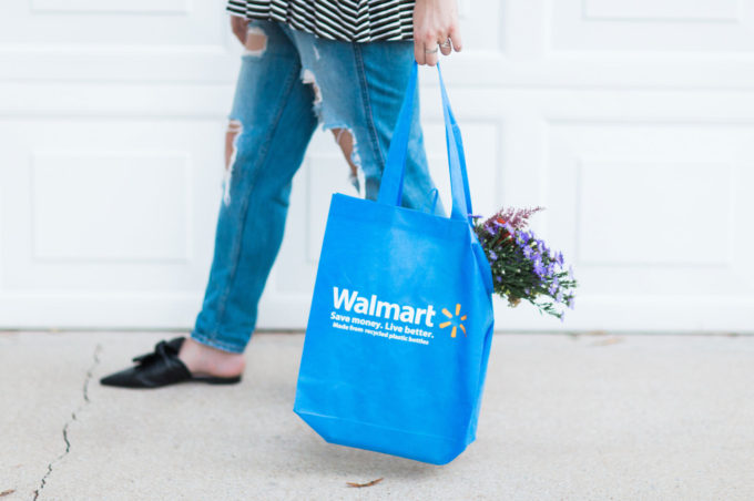Shopping with a Walmart bag. Click through for the details. | glitterinc.com | @glitterinc