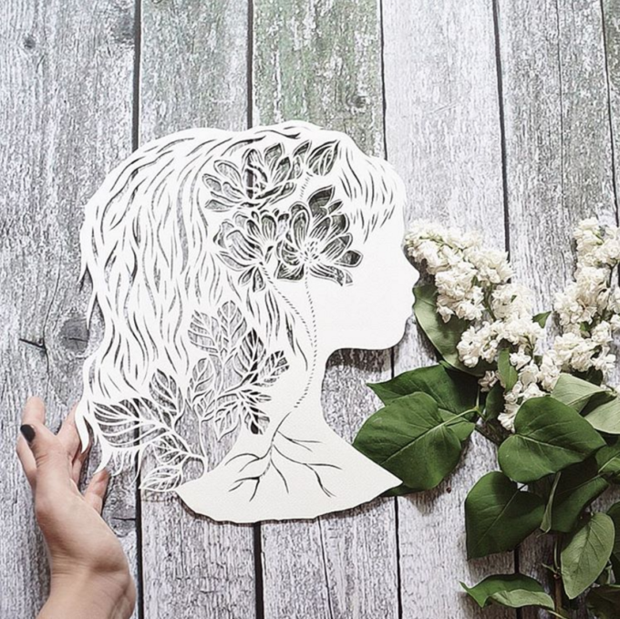 Eugenia Zoloto's Whimsical Modern Art Paper Cuttings. Click through for the details. | glitterinc.com | @glitterinc