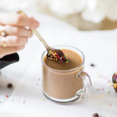 How to Make an Almond Milk Chocolate Glazed Donut Coffee