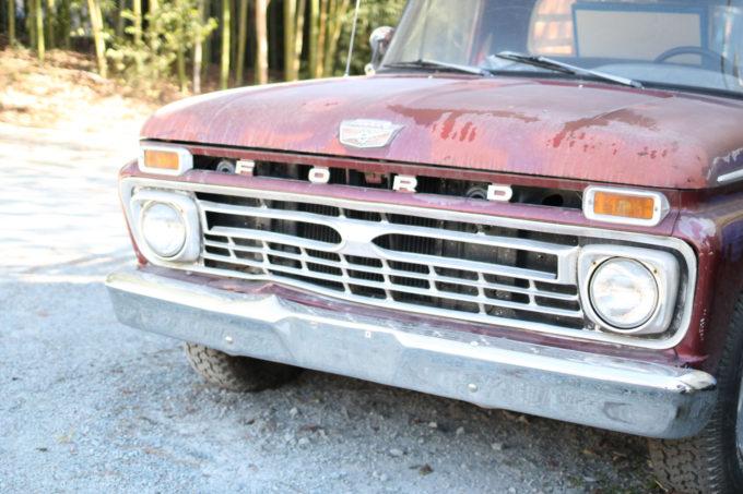 Chapel Hill, NC in the Fall - Vintage Ford   glitterinc.com   @glitterinc