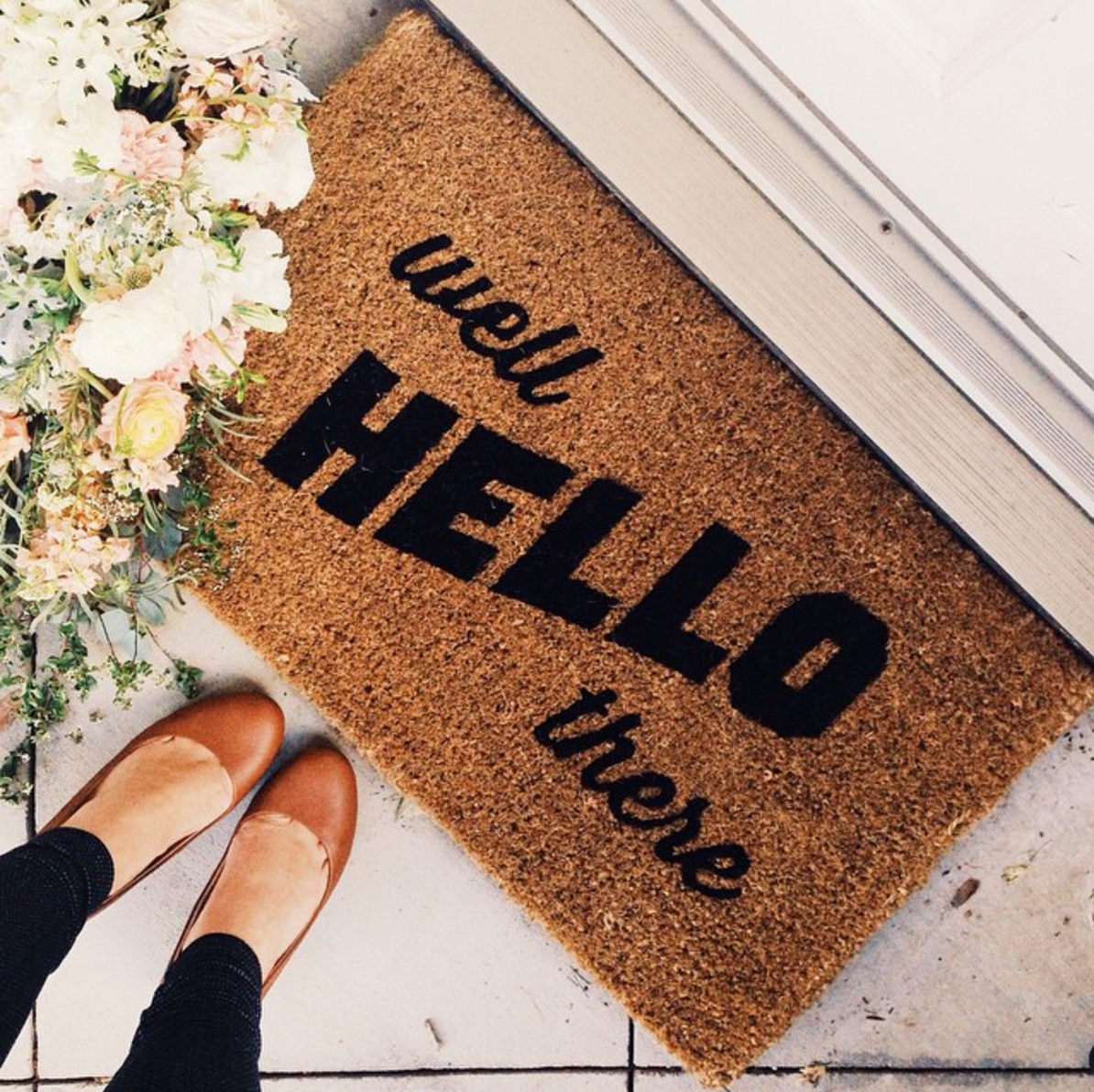 Where to Find The Cutest Doormats Ever: Well Hello There Doormat. Click through for the details. | glitterinc.com | @glitterinc