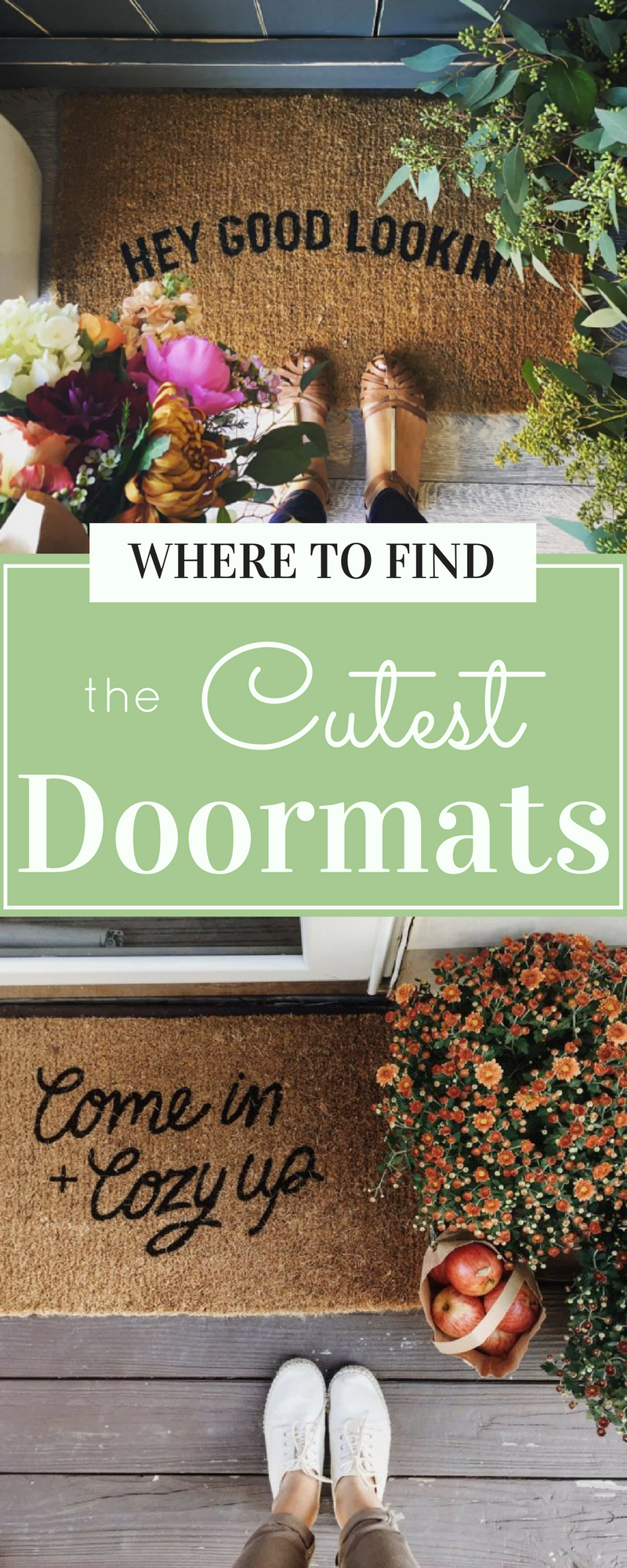 Make a great first impression with these cute + funny doormats to decorate your porch or doorway - so darling! | glitterinc.com | @glitterinc
