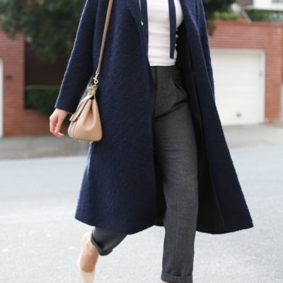 A Cold-Weather Classic: The Navy Coat